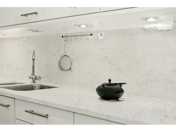 M52 Frosty Carrara Quartz Slab