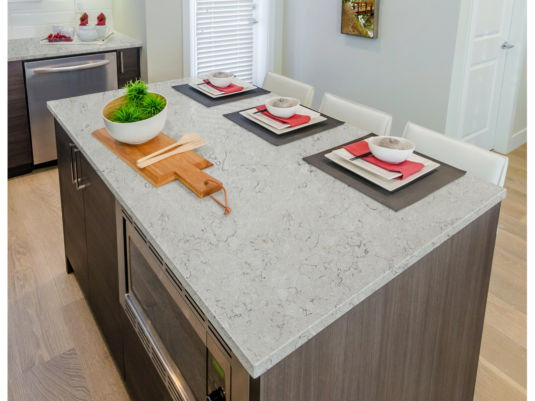Snow drift engineered quartz slabs countertop manufacturers for Quartz countertop slab dimensions