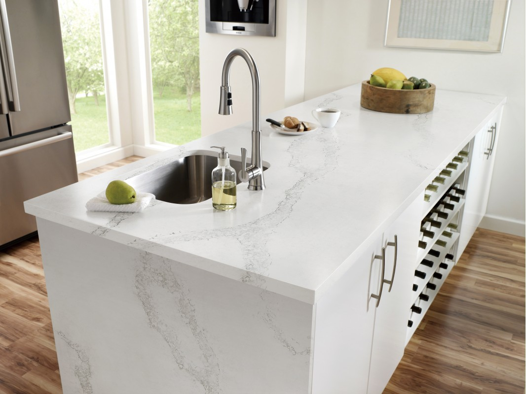 Wholesale Calacatta Nueva White Quartz Kitchen Countertops