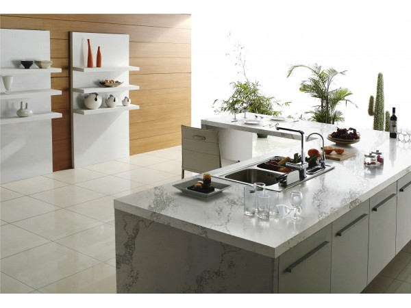 M42 Statuario Nuvo Quartz Countertops