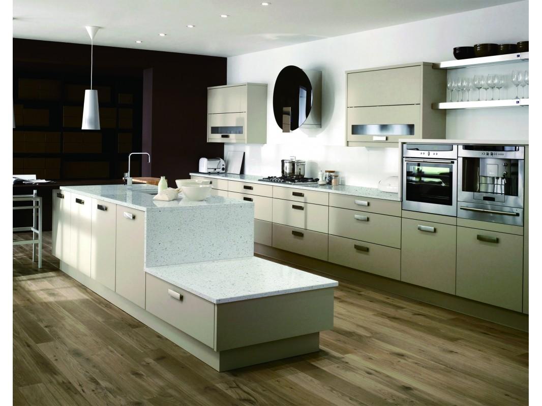 Starry Crystal White Quartz Slab Kitchen Countertop