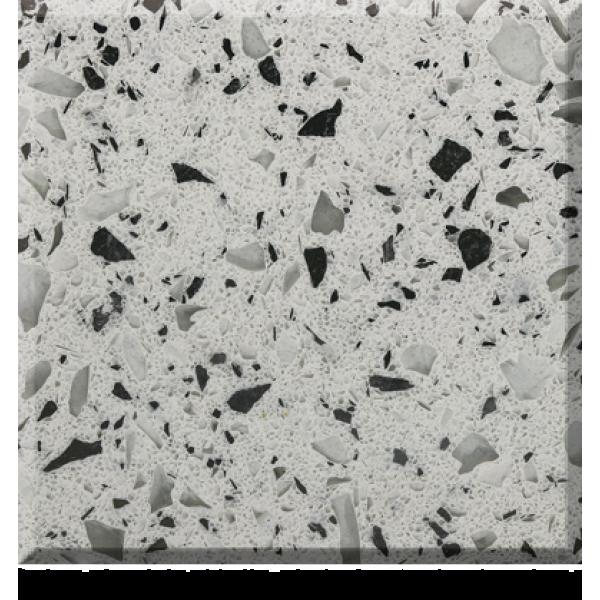 PL9 Metallic White Quartz Slab